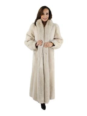 Champagne Sheared Beaver Coat