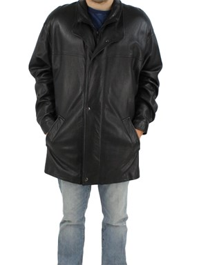 New Man's Black Lamb Leather Jacket