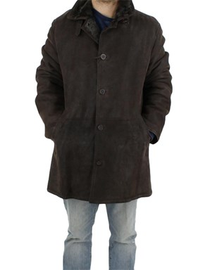 NEW Man's Brown Italian Shearling Lamb Jacket