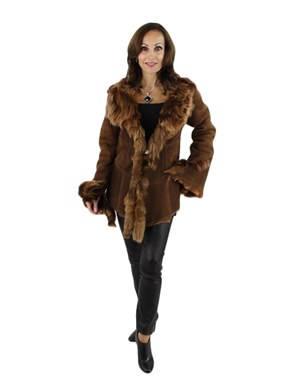 NEW Woman's Brown Shearling Lamb Jacket