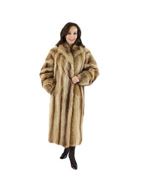 Golden Glory Raccoon Coat