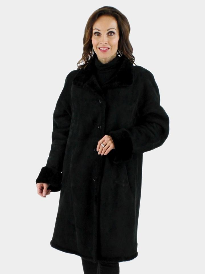 Black Shearling Stroller