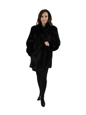 Woman's Ranch Female Mink Fur Jacket