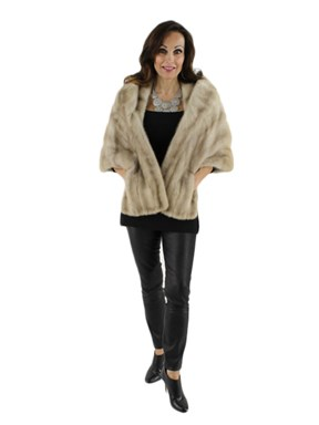 Natural Morning Light Mink Fur Stole