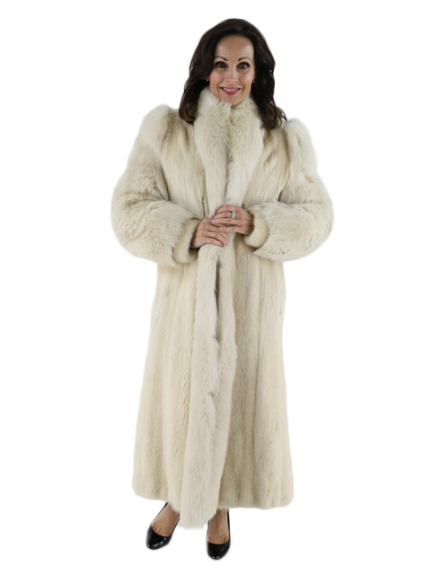 Mink Coat Value >> Tourmaline Mink Fur Coat - Women's Medium | Estate Furs