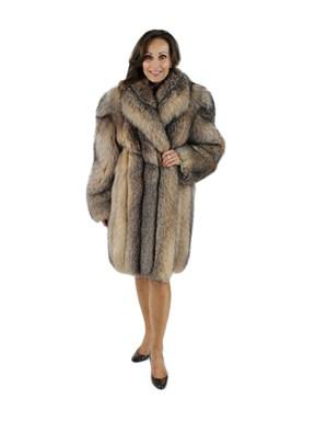 Woman's Crystal Fox Fur Stroller