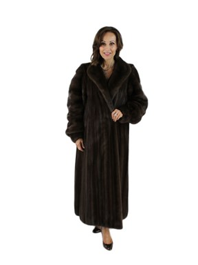 Plus Size Female Mahogany Mink Coat
