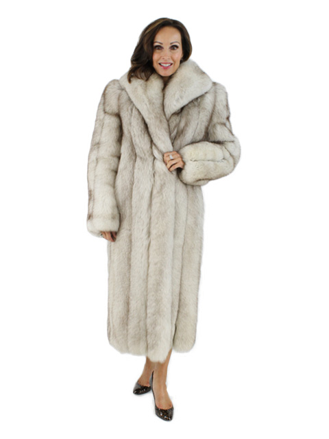 Blue Fox Fur Coat Women S Small Estate Furs
