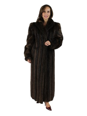 Long Hair Natural Beaver Coat