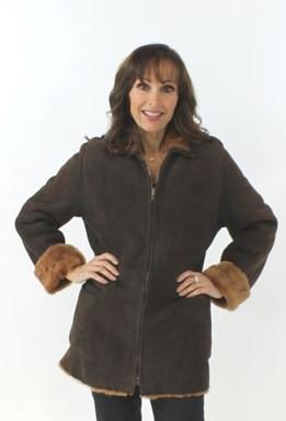 Brown Shearling Lamb Jacket