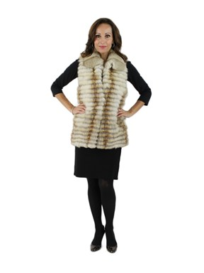 New woman's Natural Kit Fox Fur Vest
