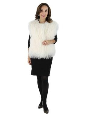 New Gorski Woman's White Tibetan Lamb Vest