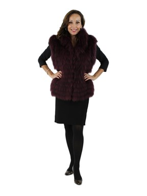 Raspberry Finnish Raccoon Vest