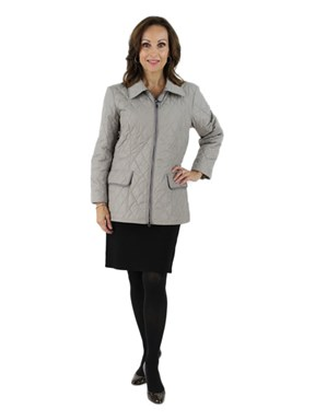 New Grey Woman's  Fabric Jacket