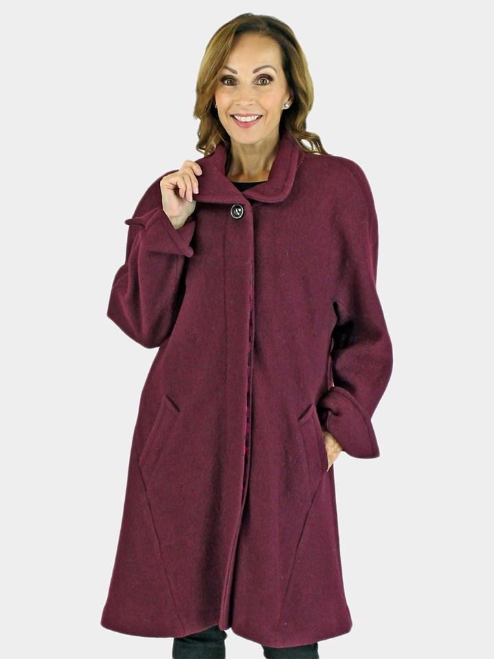 NEW Woman's Wine Cloth Coat