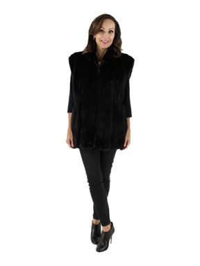 Woman's Ranch Mink Fur Vest