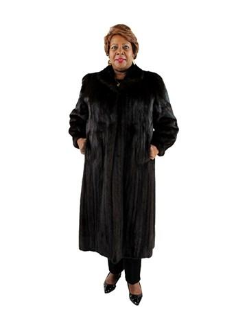 Plus Size Dark Mahogany Female Mink Coat