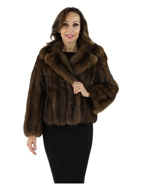 Vintage Sable Evening Fur Jacket