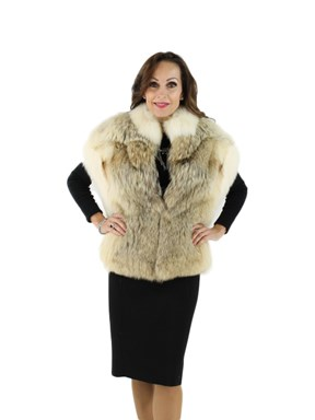 Woman's Coyote Fur Vest
