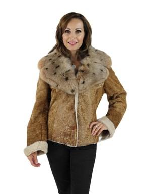 Italian Oliveri Designed Shearling Jacket