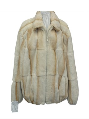 Man's Creme Rex Rabbit Jacket