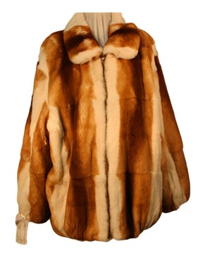 Man's Butterscotch Rex Rabbit Jacket