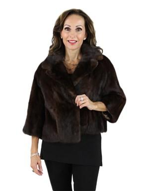 Mahogany Female Mink Fur Evening Jacket