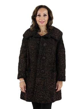 Brown Persian Lamb Fur Jacket