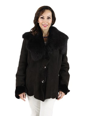 Woman's Brown Shearling Lamb Jacket