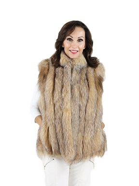 Woman's Crystal Fox Fur Vest