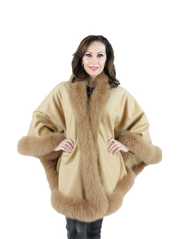 Woman's Gorski Cashmere and Fox Fur Cape
