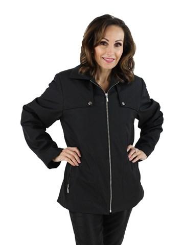 Black Microfiber Jacket