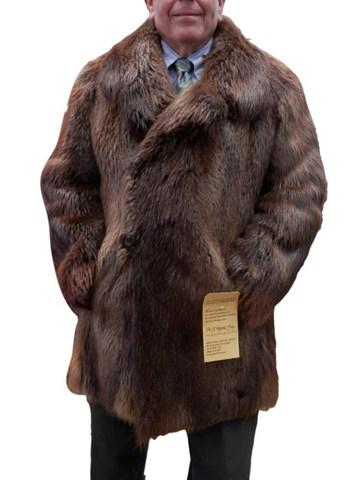 Rust Long Hair Beaver Carcoat