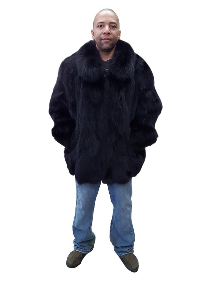 Man's Black Fox Sections Baseball Zip Jacket
