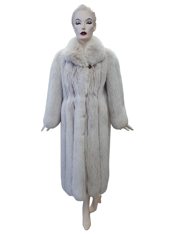 Blush Fox Fur Coat