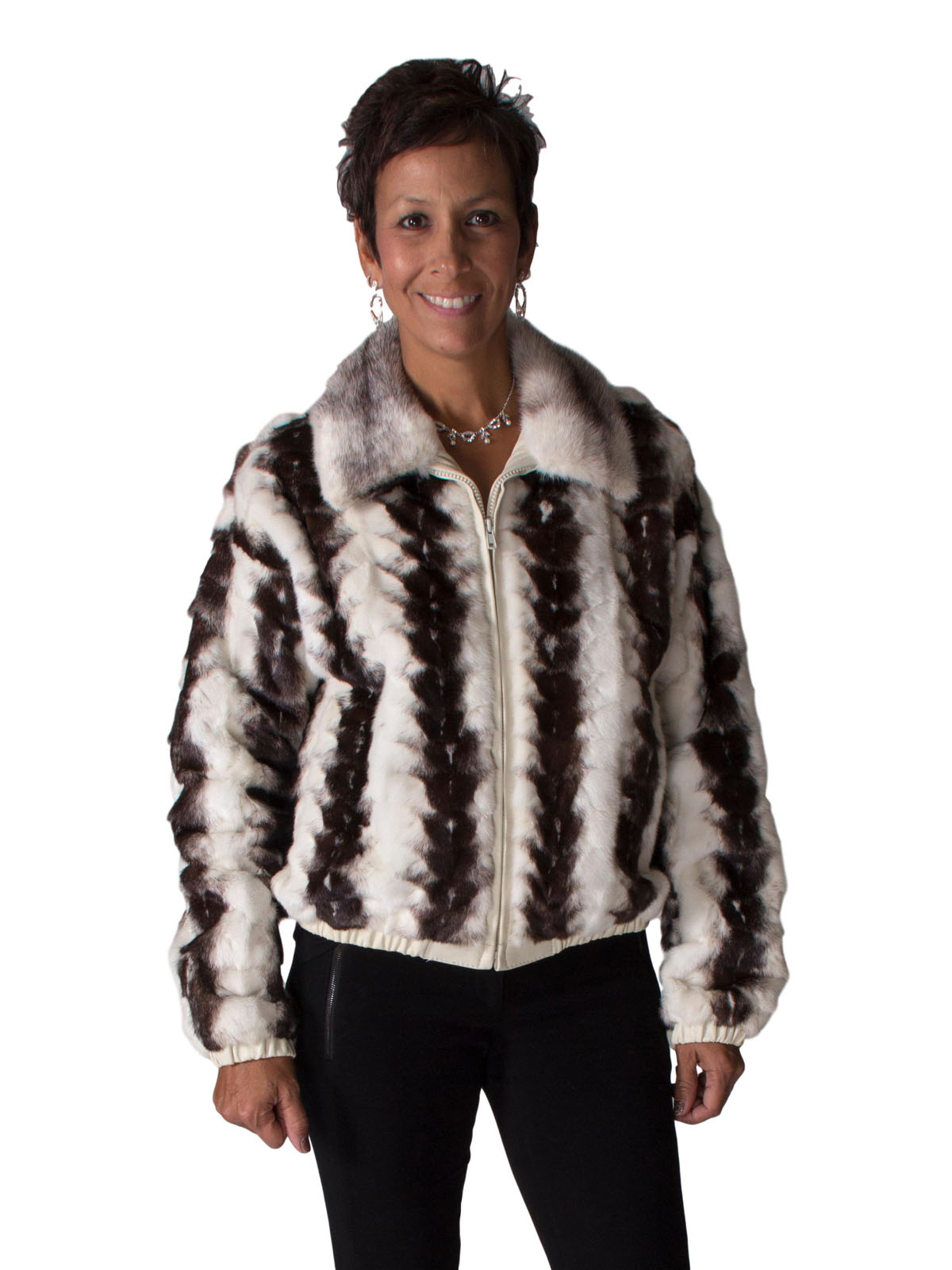 9b779d3ff1a NEW Brown Shadow Mink Heads Zip Jacket (Size  Womens 12)