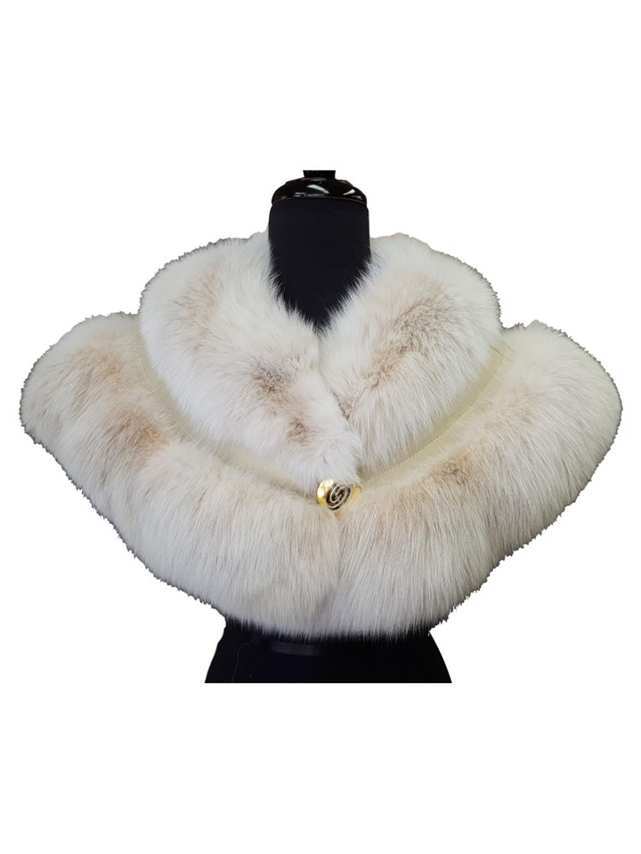 NEW Blush Fox Shoulder Cape Collar