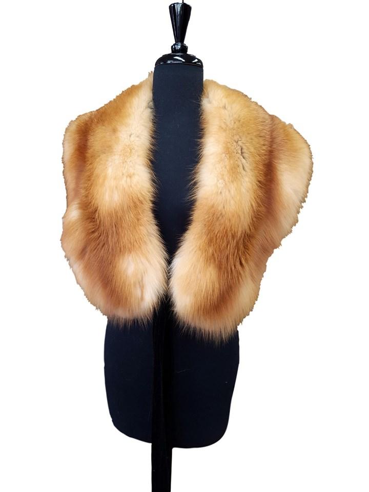 NEW Red Fox Tie Cape Collar