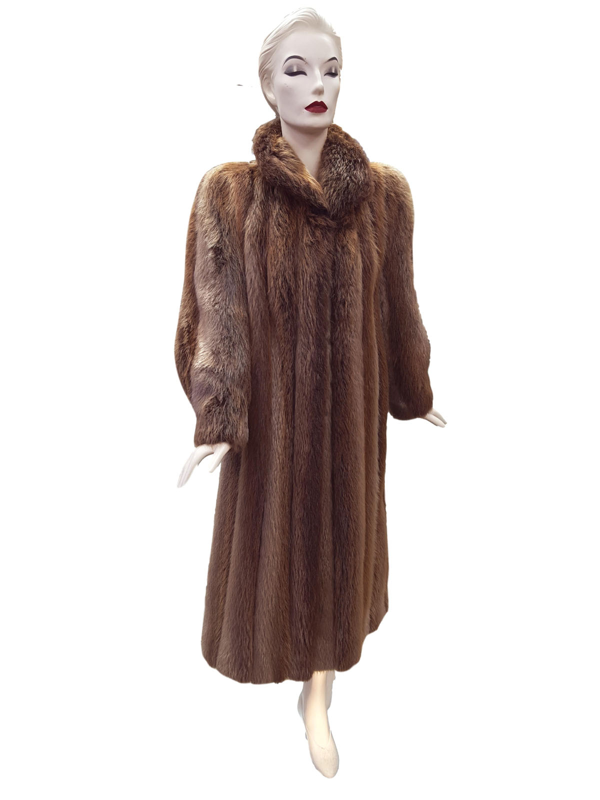 cb3803149 Blonde Long Hair Beaver Trench Coat | Milwaukee, WI | Ugent Furs