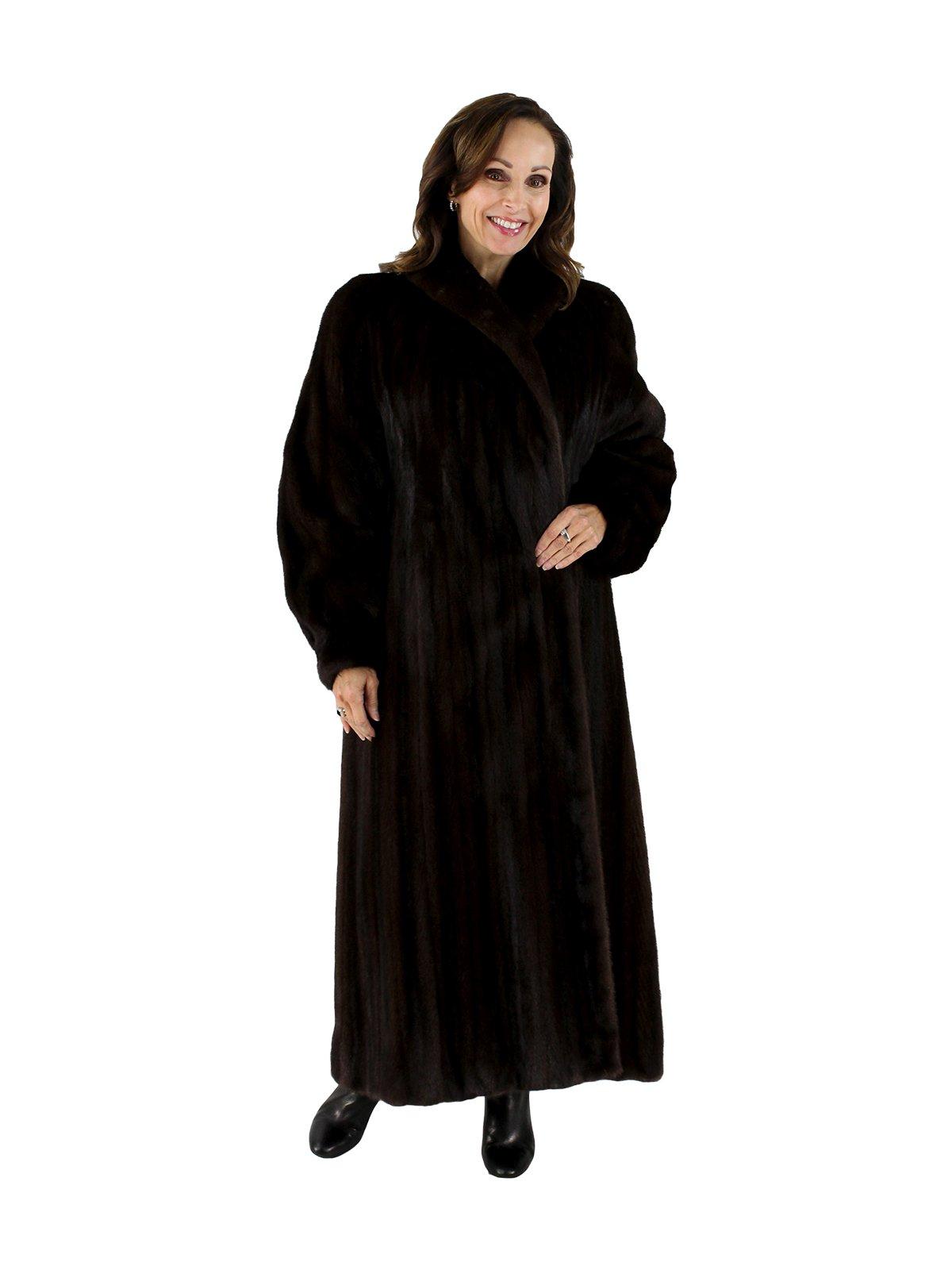 b3852fead Mink Fur Coat - Women's Large (14) - Dark Mahogany | Estate Furs