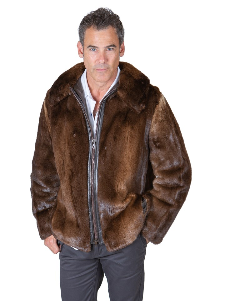 Man's Natural Otter Fur Jacket