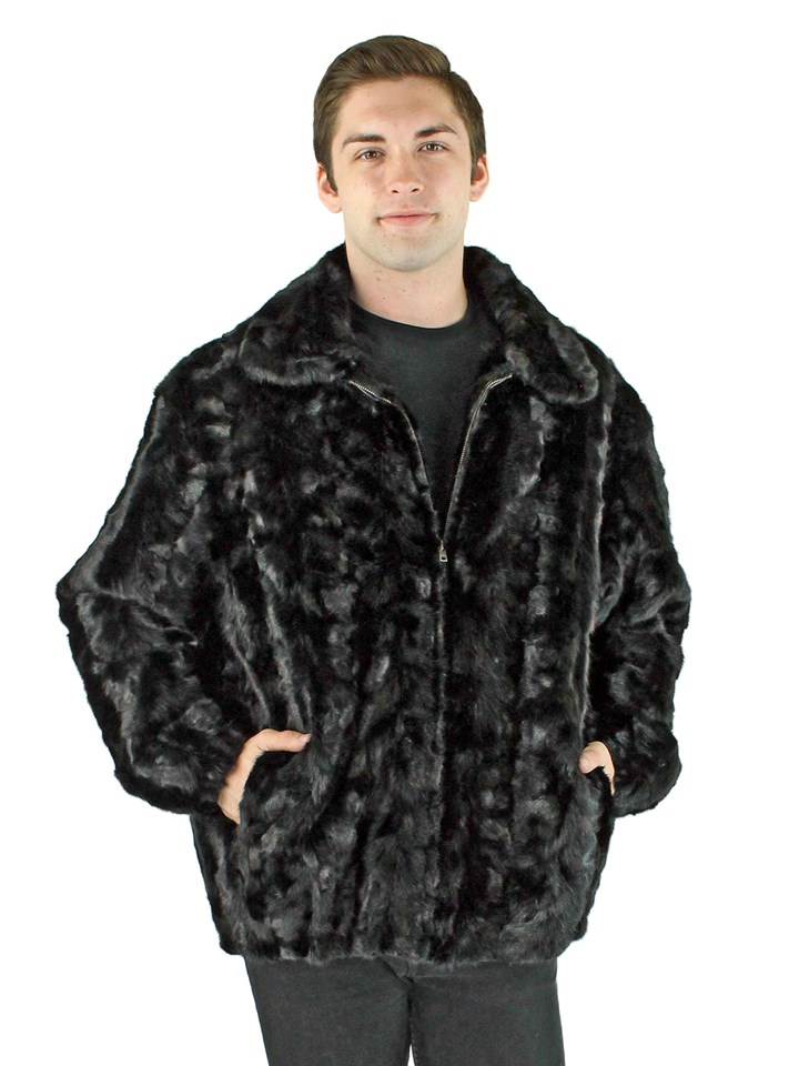 Man's Ranch Sectioned Mink Fur Jacket