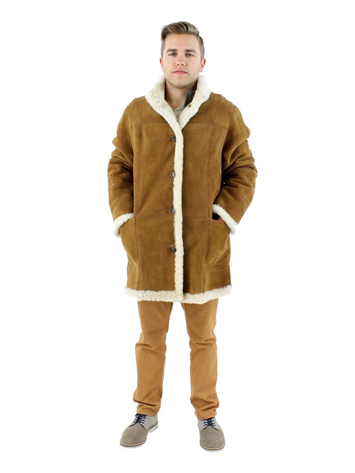 NEW Man's Whiskey Shearling Lamb Jacket