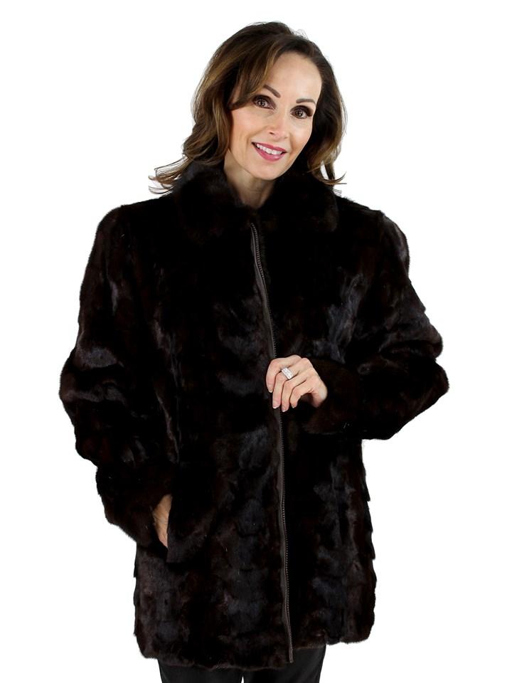 Mahogany Mink Section Jacket