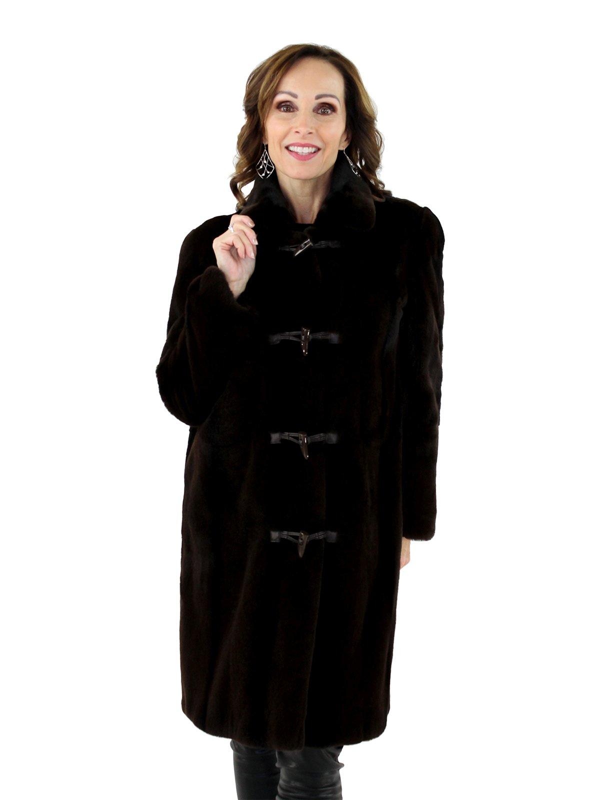 351b43ae5 Brown Sheared Mink Fur Stroller - Women's Mink Stroller - Small ...