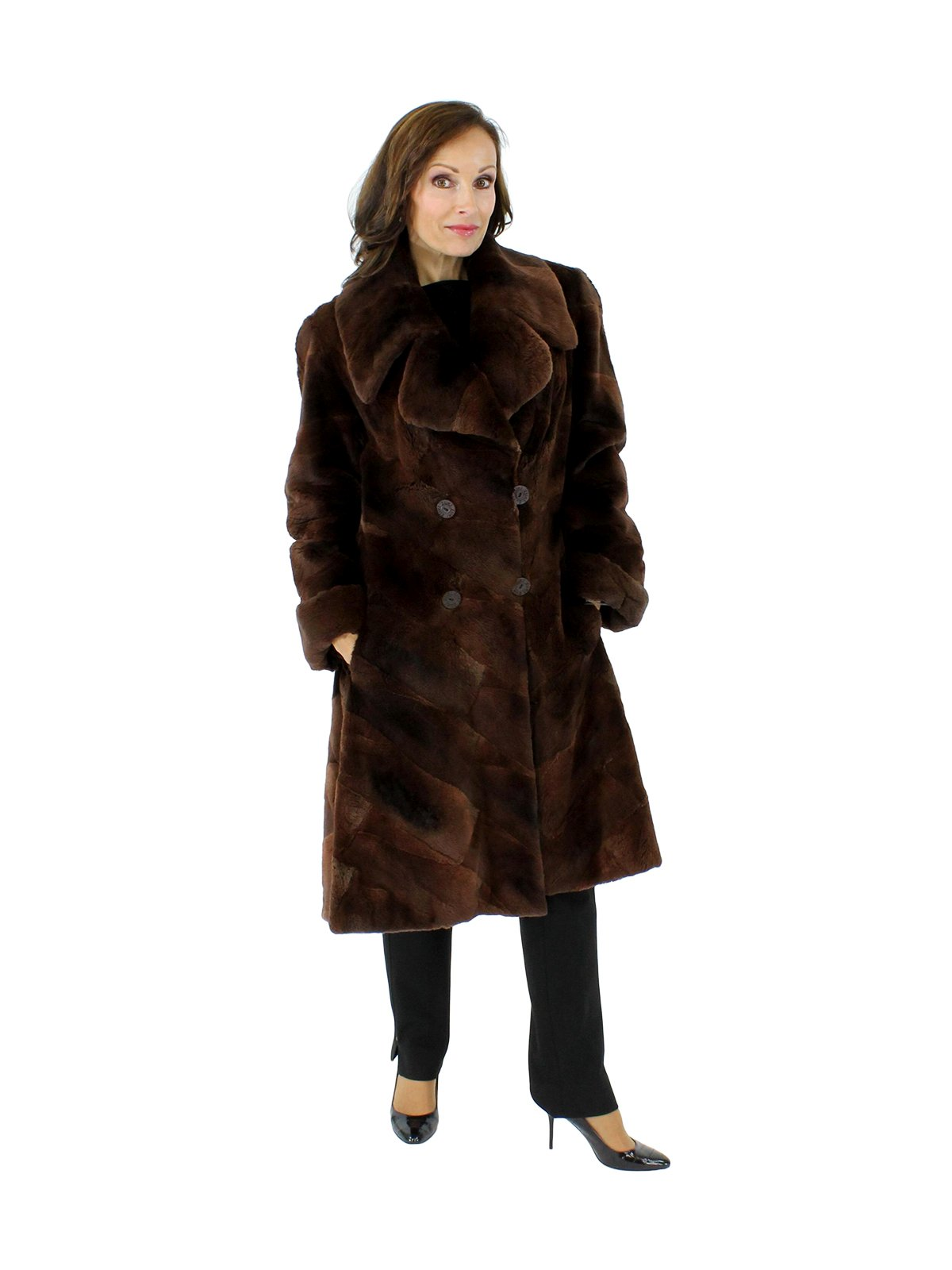 ca8750d89 Sheared Muskrat Fur Coat - Women's Small - Brown | Estate Furs