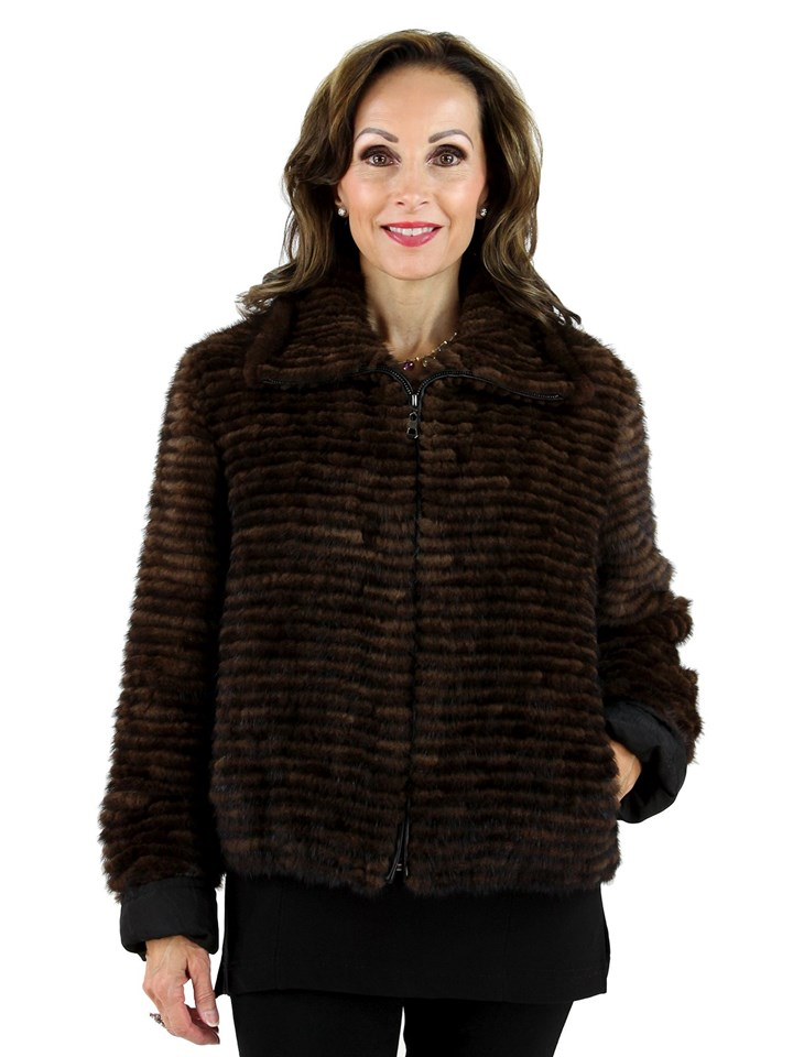 New Woman's Scanbrown Mink Jacket