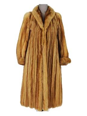 Petite Golden Sable Mink Coat