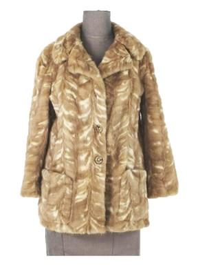 Autumn Haze Mink Setion Jacket