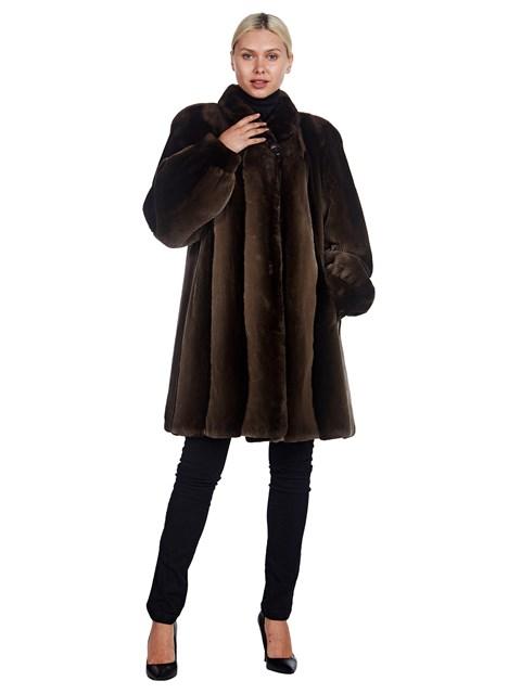 Woman's Brown Sheared Beaver Fur Stroller